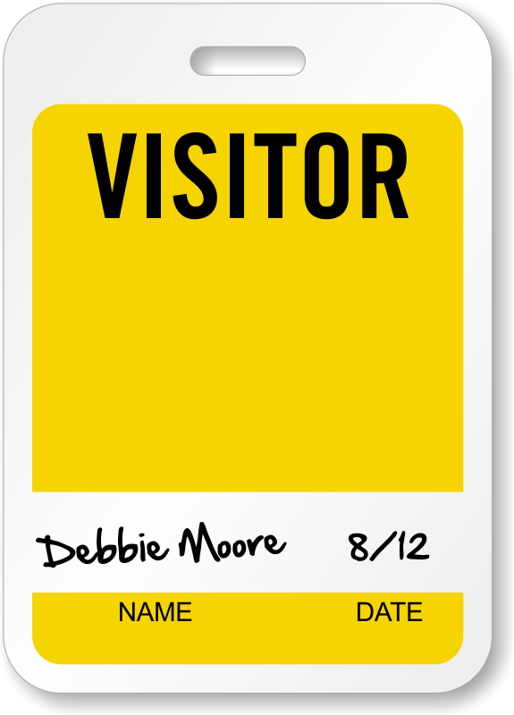 Permalink to Visitor Badge Template