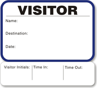 Sign-Out 1-Day Time Expiring Voiding Visitor Pass